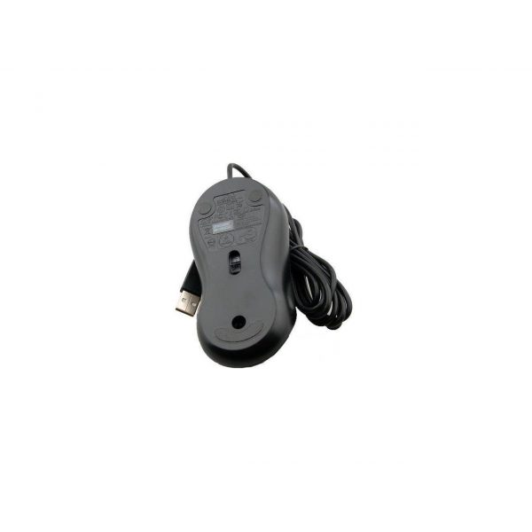 dell deluxe usb optical 3 button scroll mouse xn966 zwart back